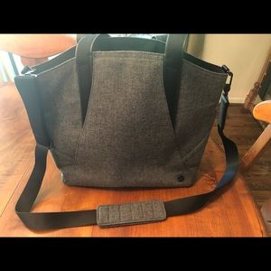 Lululemon wool gray tote with detachable strap